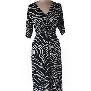 Jones NY Zebra Dress